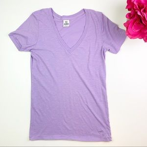 PINK by Victoria Secret Lavender Short Sleeve Tee